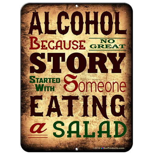 "ALCOHOL Kolorcoat™ Metal Bar Sign - 9"" x 12"""