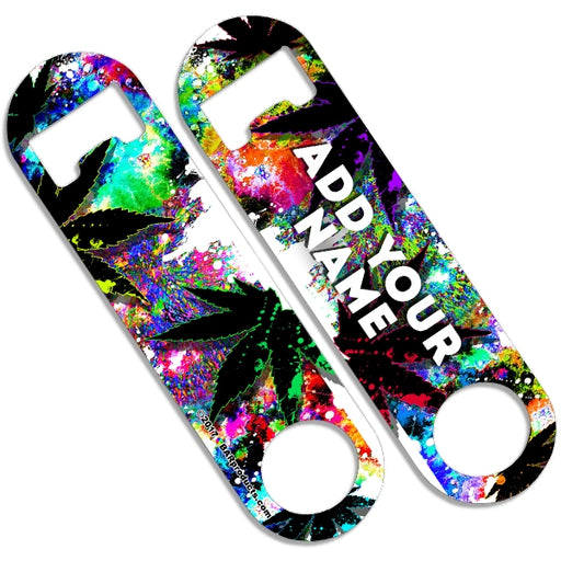 CUSTOMIZABLE Skinny Mini Bottle Opener - Colorful Stoner
