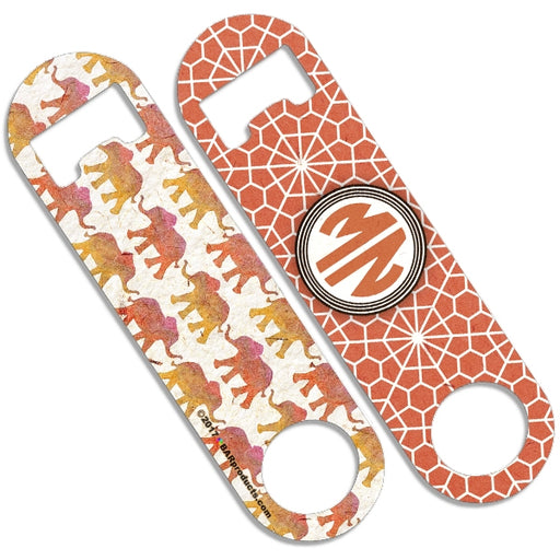 CUSTOMIZABLE Skinny Mini Bottle Opener - Monogram Watercolor Elephants