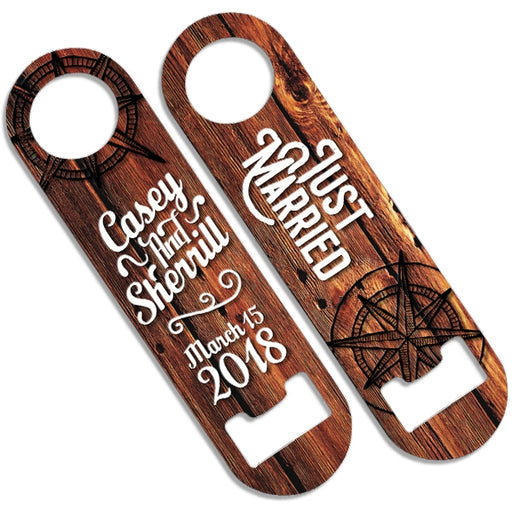 CUSTOMIZABLE Skinny Mini Bottle Opener - Just Married
