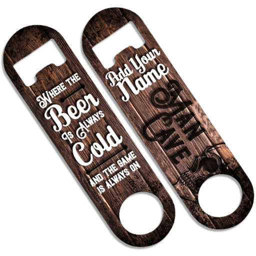 CUSTOMIZABLE Skinny Mini Bottle Opener - Man Cave