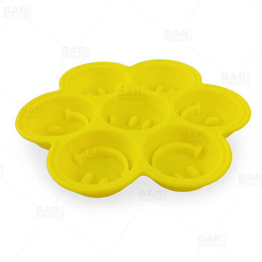 Smiley Face Ice Mold Tray - Silicone - 7