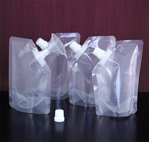 4oz. Soft Bag Flasks with Funnel