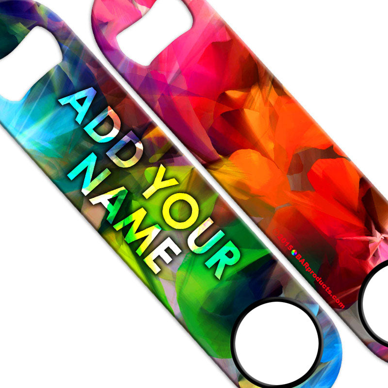 ADD YOUR NAME SPEED Bottle Opener – Abstract Colors