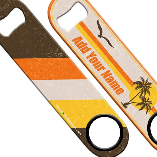 ADD YOUR NAME Speed Bottle Opener - Retro Series - Malibu