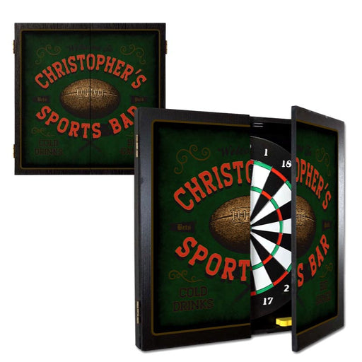 "Customizable ""Football"" Sports Bar Dart Board Cabinet"