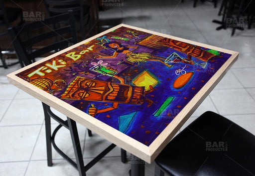 Hulu Bar Square Wooden Table Top - Two Sizes Available