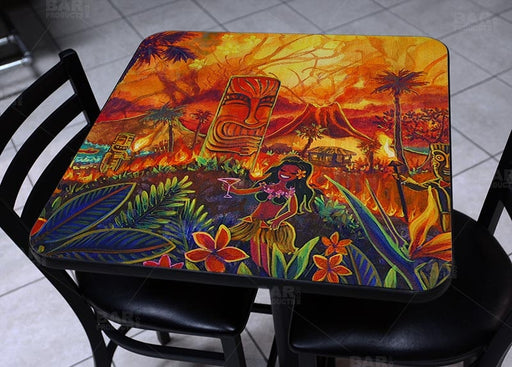 Lucky Tiki Square Wooden Table Top - Two Sizes Available