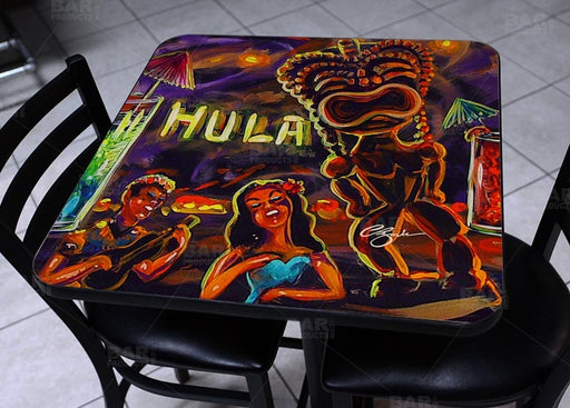Hulu Bar Vintage Square Wooden Table Top - Two Sizes Available
