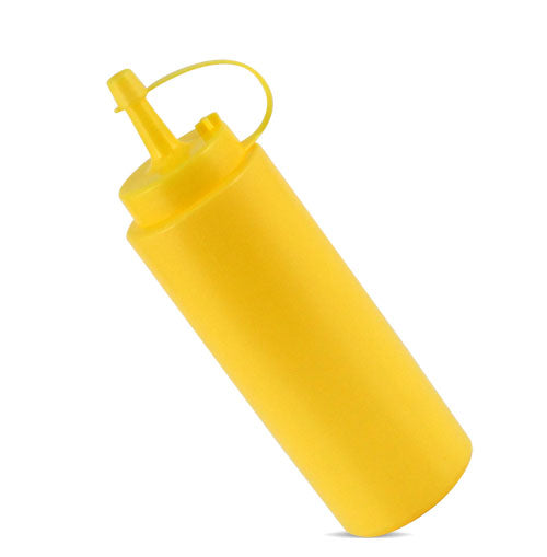 Yellow 8 oz Squeeze Bottle with Cap