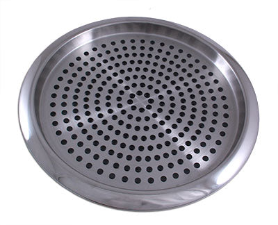 "Non Skid Rubbergrip™ Serving Tray - Stainless Steel - 14"" Diameter"
