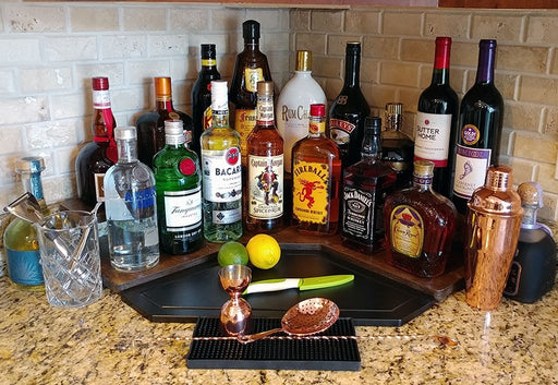 Counter Caddies™ - Stained Finish - Liquor/Wine Bottle Display
