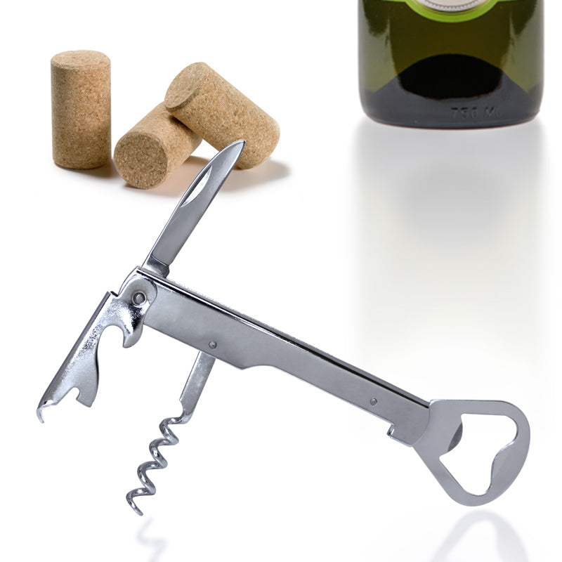 Stainless Steel Wine and Beer Bottle Opener