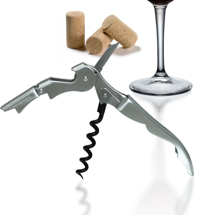 Corkscrew / Wine Opener - Double Lever - Stainless Steel
