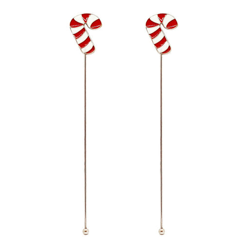 Stainless Steel Stirrers - Candy Cane - Set of 2