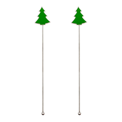 Stainless Steel Stirrers - Christmas Tree - Set of 2