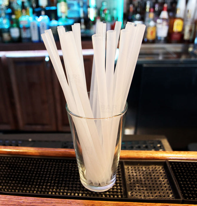 BarConic® Reusable Polypropylene Straws - 50 pack Clear 250mm