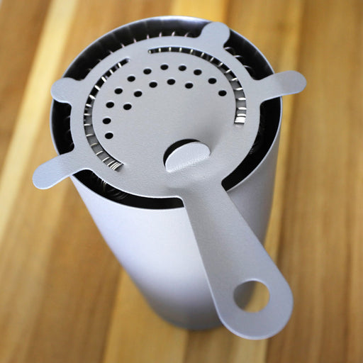 """Textured Shadow Gray"" 4-Prong Cocktail Strainer"