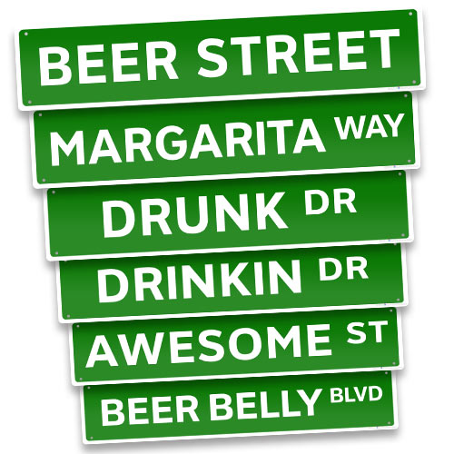 Street Sign Kolorcoat Metal Bar Sign