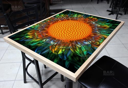 "Sunburst Daisy 24"" x 30"" Wooden Table Top - Two Types Available"