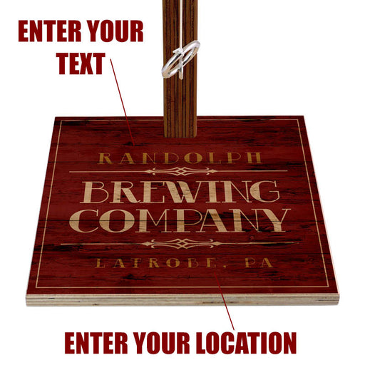 Customizable Tabletop Ring Toss Game - Brewing Company