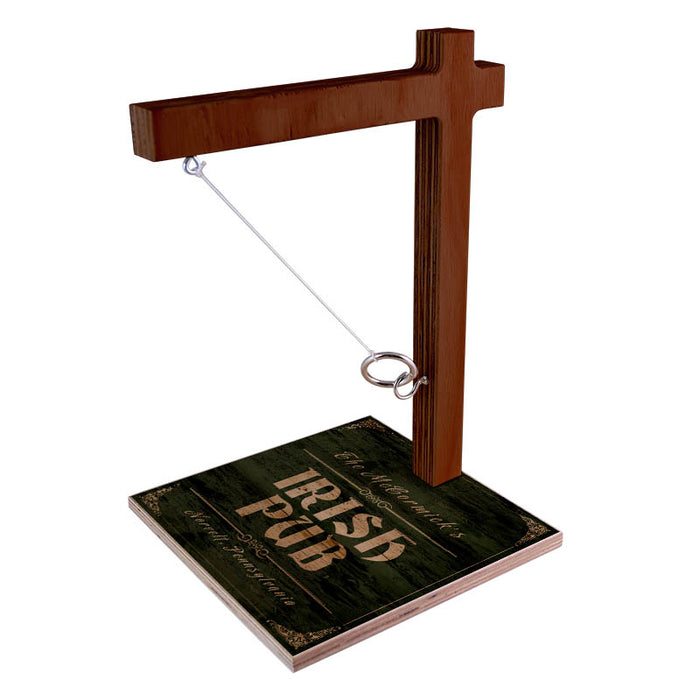 Customizable Tabletop Ring Toss Game - Irish Pub