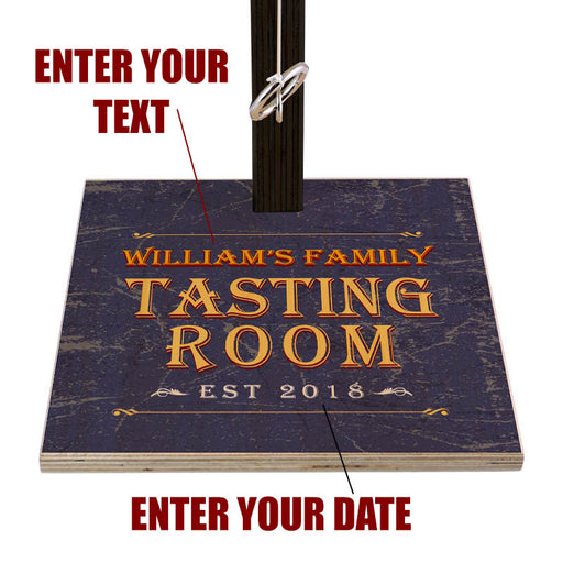 Customizable Tabletop Ring Toss Game - Tasting Room