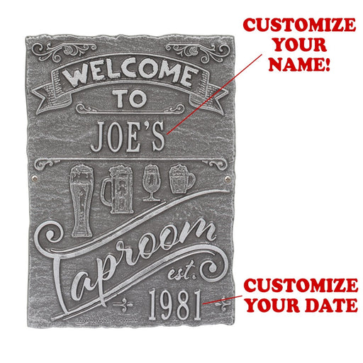 CUSTOMIZABLE Cast Aluminum Plaque - Taproom Brew Pub Design