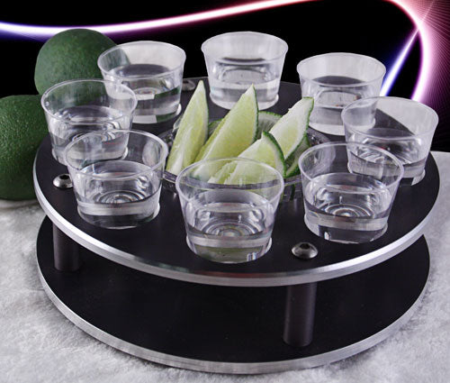 Tequila Shot Glass Tray with Lime Holder