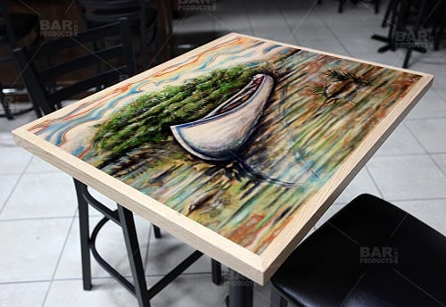 "The Canoe 24"" x 30"" Wooden Table Top - Two Types Available"