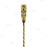 Olea™ Tiki Butt Ku Gold Plated Bar Spoon - 40cm