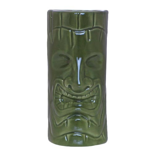 Green Face Ceramic Tiki Mug - 12 oz.