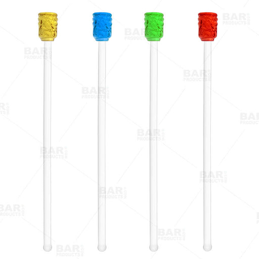 Tiki Glass Drink Stirrers - Set of 4