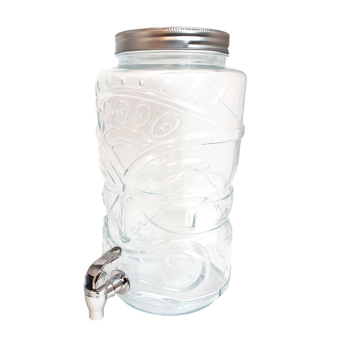 BarConic® Glass Tiki Beverage Dispenser with Tap - 1.6 Gallons