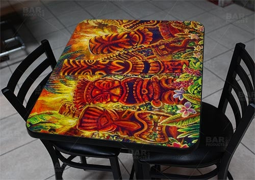 "Tiki Laughter 24"" x 30"" Wooden Table Top - Two Types Available"