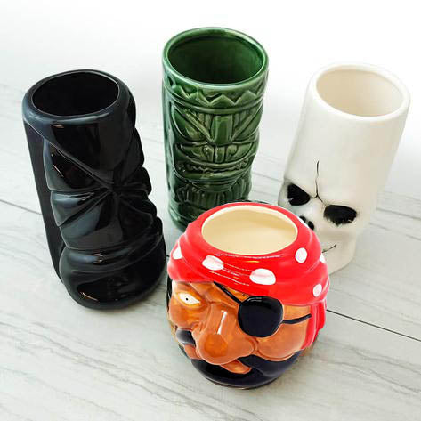 TIKI MUGS DRINKWARE PACKAGE 3 - SET OF 4