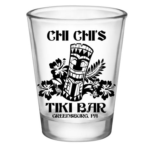CUSTOMIZABLE - 1.75oz Clear Shot Glass - Tiki Bar