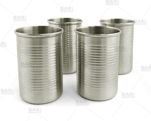 Tin Can Shots - 2 oz - Unique Shots - Pack of 4