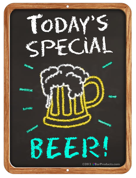 """Today's Special"" Kolorcoat™ Metal Bar Signs"