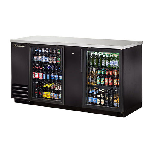 True® Solid Swing Door Back Bar Cooler w/ LED Lighting (TBB-3G-LD)