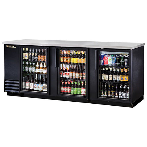 True® Solid Swing Door Back Bar Cooler w/ LED Lighting (TBB-4G-LD)