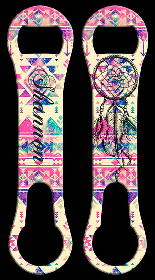 ADD YOUR NAME V-Rod® Bottle Opener - Tribal Dream Catcher