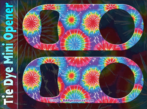 Mini Speed Bottle Opener / Bar Key - Tie Dye 2