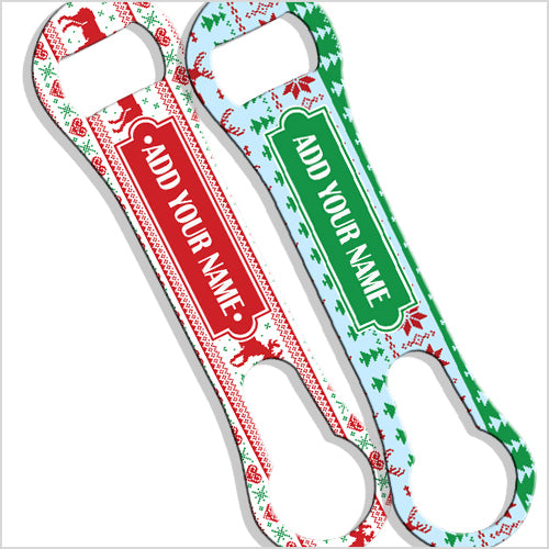ADD YOUR NAME  V-Rod® Bottle Opener – Ugly Christmas Sweater