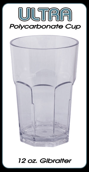 Ultra Polycarbonate Gibralter Style Glass - 12 ounce