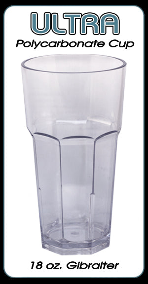 Ultra Polycarbonate Gibralter Style Glass - 18 ounce