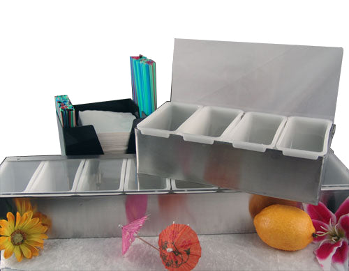 Stainless Steel Condiment Holders (Fruit Trays)