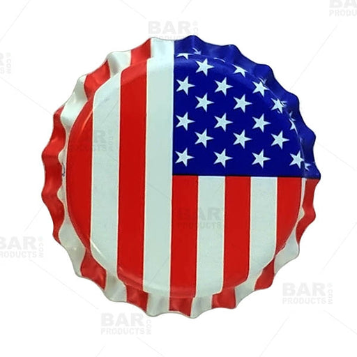 Beer Bottle Caps - American Flag - Oxygen Absorbing (Pack of 50)