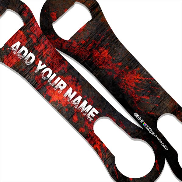 """ADD YOUR NAME""  V-ROD® Bottle Opener – Grunge Metal – Several Color Options"
