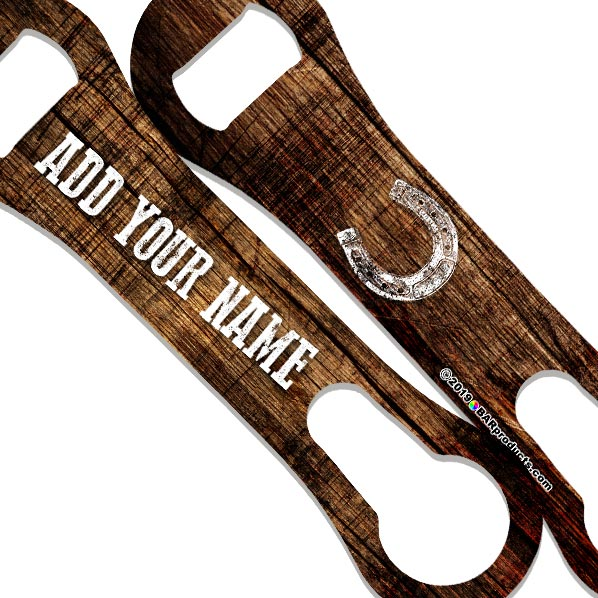 V-Rod® Bottle Opener - Customizable - Grunge Wood - Color Variations
